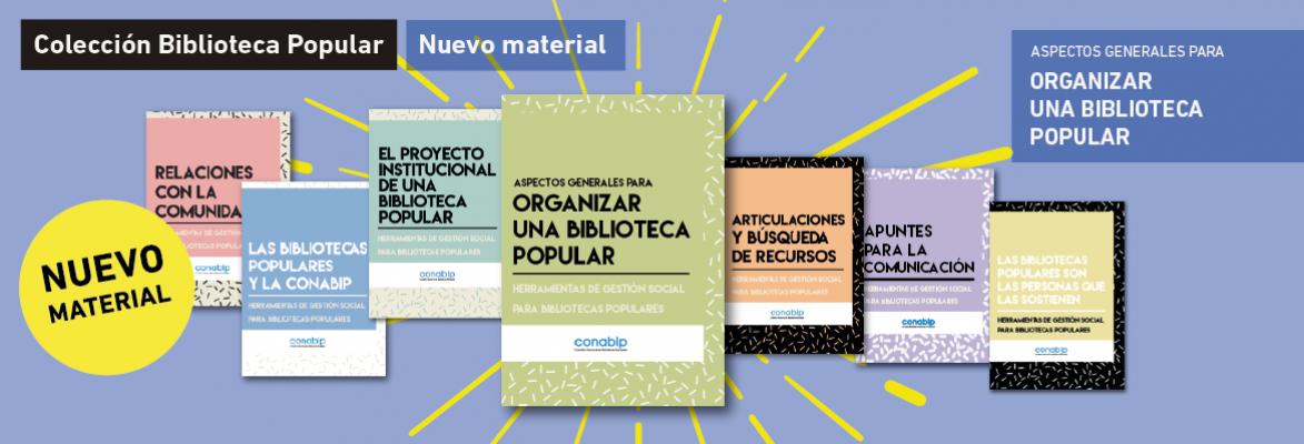Nuevo material: Aspectos generales para organizar una Biblioteca Popular
